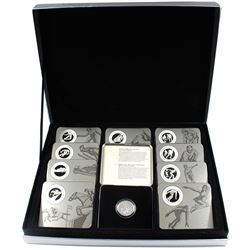 1998-2000 Canada Sports 50-cent Full 12-coin Sterling Silver Coin Set in Individual Tin Casing with