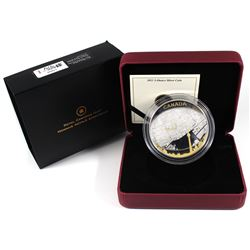 2011 Canada $25 Toronto City Map 2oz Gold Plated Fine Silver Coin (capsule lightly scratched). TAX E