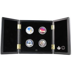 2015-2017 Canada $20 Weather Phenomenon 4-coin Fine Silver Set in Deluxe Display Case. You will rece