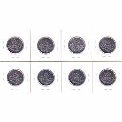 8x Royal Canadian Mint Tokens, all 'Bubble Maple Leaf' Design. 8pcs