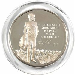 1973 The John F. Kenned Memorial Medal Minted by the Franklin Mint. Sculpted by Gilroy Roberts, this