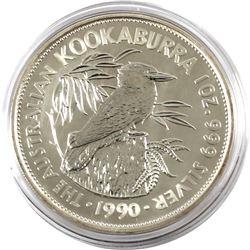 1990 Australia $5 1oz Kookaburra Fine Silver Coin in Capsule (TAX Exempt)