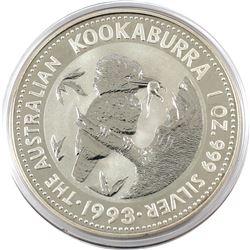 1993 Australia $5 1oz Kookaburra Fine Silver Coin in Capsule (TAX Exempt)