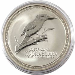 2003 Australia $5 1oz Kookaburra Fine Silver Coin in Capsule. Low mintage of only 109,439!!! (TAX Ex