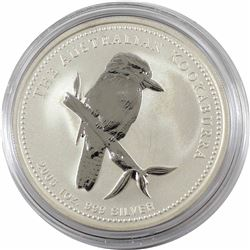 2005 Australia $5 1oz Kookaburra Fine Silver Coin in Capsule. Low mintage of only 95,145!!! (TAX Exe