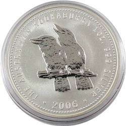 2006 Australia $5 1oz Kookaburra Fine Silver Coin in Capsule. 2nd Lowest mintage year of only 87,044