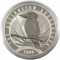 2009 Australia $5 1oz Kookaburra Fine Silver Coin in Capsule (TAX Exempt)
