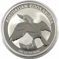2011 Australia $5 1oz Kookaburra Fine Silver Coin in Capsule (TAX Exempt)