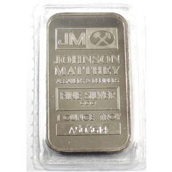 Johnson Matthey 1oz Fine Silver Bar (Tax Exempt)