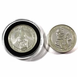 2019 & 2020 Great Britain 5 Pounds Queen's Beasts 2oz .9999 Fine Silver Coins - 2019 The Falcon of t