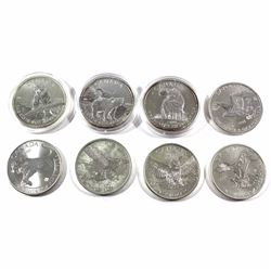 Group Lot of 2011-2016 Canada 1oz .9999 Fine Silver Wildlife Coins - 2011 Wolf, 2011 Grizzly, 2012 C