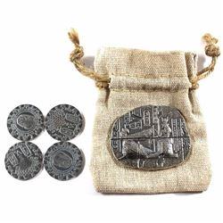 Monarch Precious Metals Egyptian Relic Goddess 2oz Fine Silver in Drawstring Cloth Bag & 4x 1/4oz Ki
