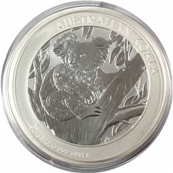 *2013 Australia $30 Koala 1 Kilo .999 Fine Silver Coin (capsule is cracked). TAX Exempt