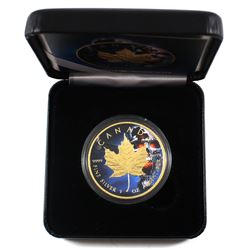 2018 Canada 1oz Coloured & Gilded Skull .9999 Fine Silver Maple Encapsulated in Smitty's Treasures B