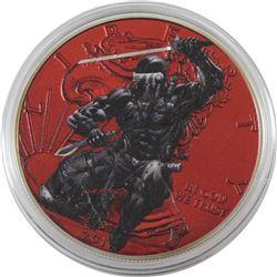 2017 USA 1oz GI Joe Snake Eyes .999 Fine Silver Coloured Eagle in Capsule (TAX Exempt)