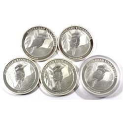 2014 Australia 1oz .999 Fine Silver Kookaburras. 5pcs (TAX Exempt)