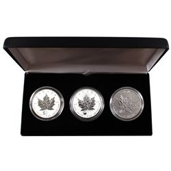 2012 Canada 1oz .9999 Fine Silver Privy Maple Leafs Encapsulated in Black display Case - Dragon, Tit