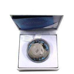 2018 China PANDA 10 Yuan Deep Frozen Edition Ruthenium Platinum .999 Fine Silver Coin.