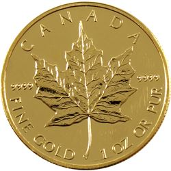 2009 Canada $50 1oz .9999 Fine Gold Maple Leaf (scratched). TAX Exempt