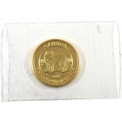 2014 Canada 1/4oz .9999 Fine Gold Arctic Fox in Sealed Mint Plastic (TAX Exempt)