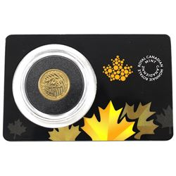 2016 Canada 1/10oz .99999 Fine Gold Roaring Cougar in Hard Plastic and Capsule (TAX Exempt)
