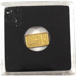 Sunshine Minting 1 Gram .9999 Fine Gold Bar (TAX Exempt)