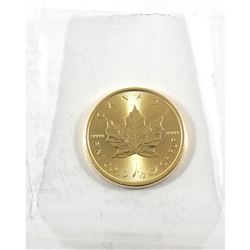 2019 Canada 1/2oz .9999 Fine Gold Maple Leaf in Sealed Mint Plastic (TAX Exempt)