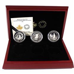 2015 Canada $5 Cornelius Krieghoff 200th Anniversary Fine Silver 3-coin Set (TAX Exempt)
