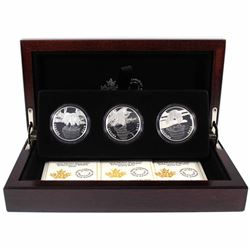 2016 Canada Reflections of Wildlife 3-coin Fine Silver Set in Deluxe Case (TAX Exempt)