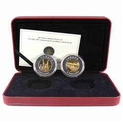 2005 Canada $8 Chinese Railway Workers Fine Silver 2-Coin Set (case has a surface tear & missing out