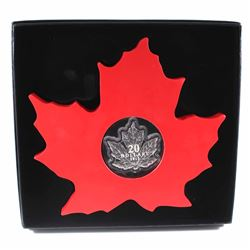 2015 $20 The Canadian Maple Leaf - Maple Leaf Shaped Fine Silver (TAX Exempt)