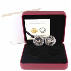 2017 Canada $1 30th Anniversary of the Loonie Fine Silver 2-coin Set (missing original outer cardboa