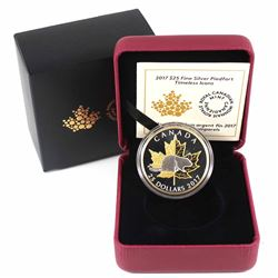 2017 Canada $25 Timeless Icons - Piedfort Fine Silver Gold Plated Coin (outer sleeve unglued on one