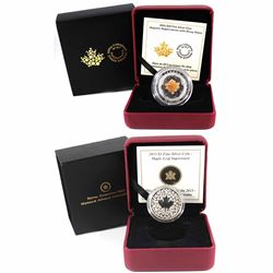 2013 Canada $3 Maple Leaf Impression & 2016 $20 Majestic Maple Leaves with Drusy Stone Fine Silver C