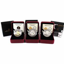 2014 Canada $20 Fine Silver Coins - Untamed Canada: Wolverine, Iconic Polar Bear & The Bison: A Fami