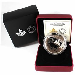 2017 Canada $30 Endangered Animal Cut-Out - Woodland Caribou Fine Silver Coin (TAX Exempt)