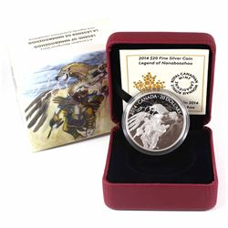 2014 Canada $20 Nanaboozhoo & the Thunderbird's Nest Fine Silver Coin (sleeve dented in one corner).