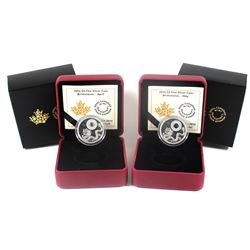 2016 Canada $5 Birthstone Fine Silver Coins - April & May. 2pcs (TAX Exempt)