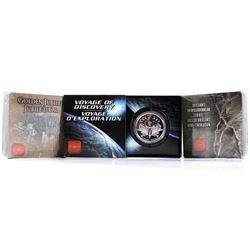 2000, 2002, 2003 Canada Silver Brilliant Uncirculated Commemorative Dollars. 3pcs.