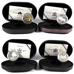 2000-2003 Canada $20 Transportation Series Sterling Silver Coins - 2000 Train - The Toronto, 2001 Sh