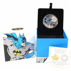 2016 Canada $20 DC Comics Originals - The Dark Knight Fine Silver Coin (TAX Exempt)