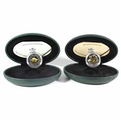 1999 Canada Nunavut & 2000 Polar Bear Knowledge Proof $2 Coins in Green Display Cases with COAs (199