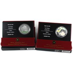 2005 & 2006 Canada $20 Tall Ships Series Fine Silver Coins - 2005 3-Masted Ship & 2006 Ketch. 2pcs (