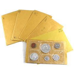 1962-1967 Canada Proof Like Sets. 1962 & 1963 come in non original envelopes, but 1962 includes a CO