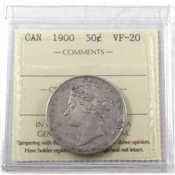 1900 Canada 50-cent ICCS Certified VF-20