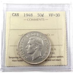 1948 Canada 50-cent ICCS Certified VF-30