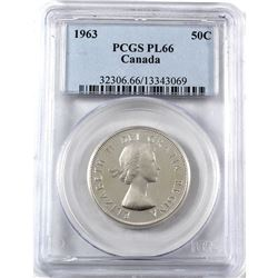 1963 Canada 50-cent PCGS Certified PL-66 (Heavy Cameo not listed)