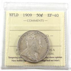 1909 Newfoundland 50-cent ICCS Certified EF-40