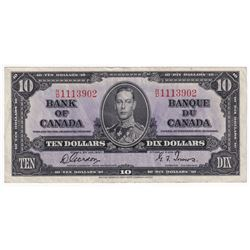1937 $10 BC-24b, Bank of Canada, Gordon-Towers, R/D1113902, EF.