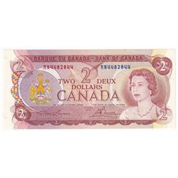 1974 $2 Bank of Canada Lawson-Bouey Signature Note with 3 Digit RADAR Serial Number RN4482844.